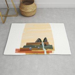 Modern abstract landscape Rug