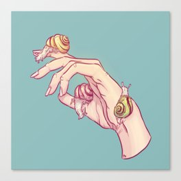 Hand Study No.1 // The Snails One Canvas Print