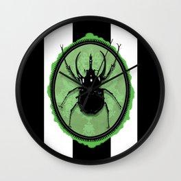 Juicy Beetle GREEN Wall Clock