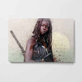 Michonne On The Walls Of Alexandria - The Walking Dead Metal Print