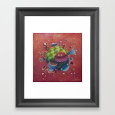 the furnitured planet  Framed Art Print