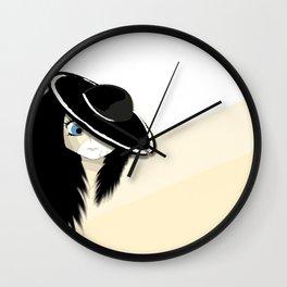 Cracked - White & Cream Wall Clock