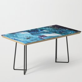 Faces in blue Coffee Table