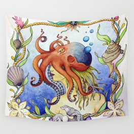 Octopus Wench Wall Tapestry