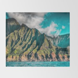 Na' Pali Coast, Kauai, Hawaii Throw Blanket