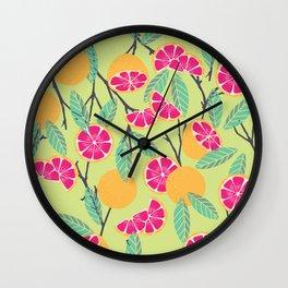 Grapefruit pattern 01 Wall Clock