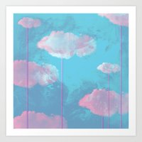 cloud Art Prints featuring Cloud  by Tony Vazquez