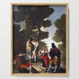 """Francisco Goya """"The Maja and the Cloaked Men or A Walk through Andalusia"""" Serving Tray"""