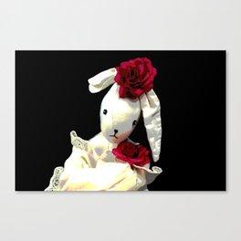 Romantic Bunny Canvas Print