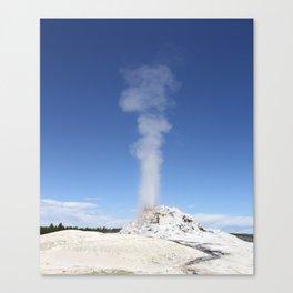 White Dome Eruption Canvas Print