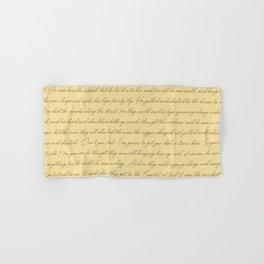 Manuscript Hand & Bath Towel