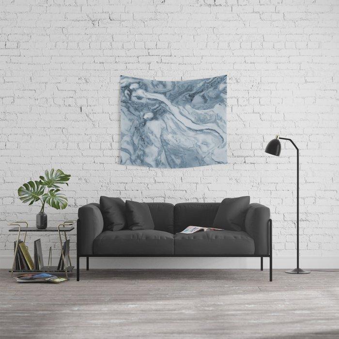Cipollino Azzurro blue marble Wall Tapestry