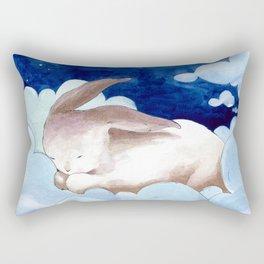 Sleeping Bunny (nursery art, art for children) Rectangular Pillow