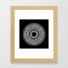 Calligram B&W 1 Framed Art Print
