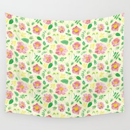 California Rose Pattern Wall Tapestry