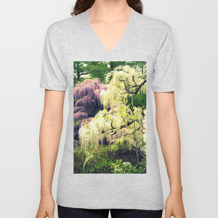 Wisteria Forest Unisex V-Neck