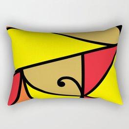 M5 Red Rectangular Pillow
