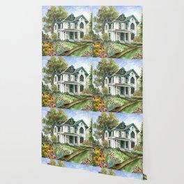 Garden House Wallpaper