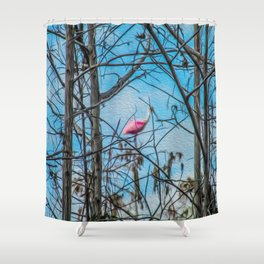 The Rose in the Tree Shower Curtain