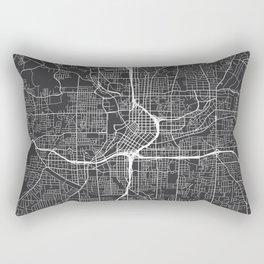 Atlanta Map, USA - Gray Rectangular Pillow