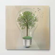 green ideas Metal Print