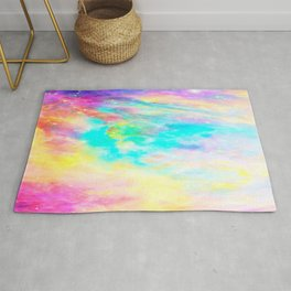 Abstract Galaxy : Bright & Colorful Rug