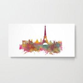 Paris skyline Metal Print