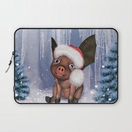 Christmas, cute little piglet Laptop Sleeve