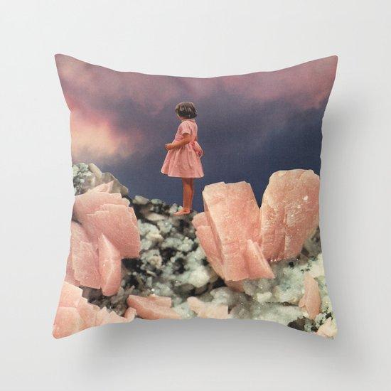 ROSE QUARTZ Throw Pillow