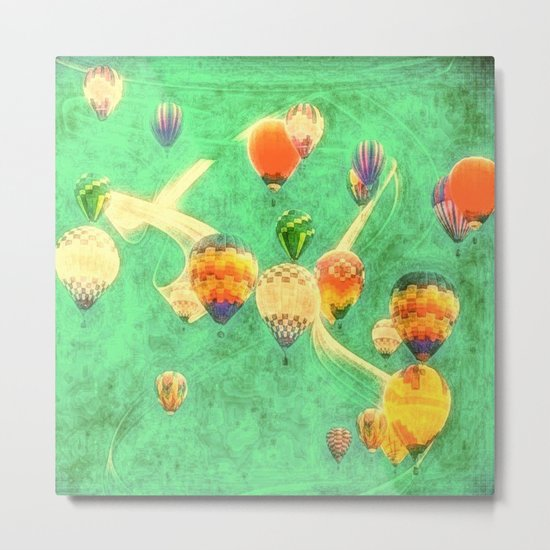 Balloon Love: up up and away Metal Print