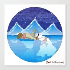 I {❤} XX Eskimo Kisses Canvas Print
