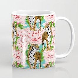 tigers and flowers Coffee Mug