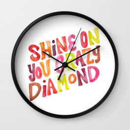 Shine On You Crazy Diamond – Rainbow Palette Wall Clock