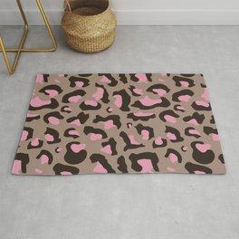 Rose Сheetah pattern Rug