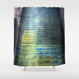Reflections of Canary Wharf Shower Curtain