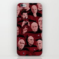 picard iPhone & iPod Skins featuring Picard Day by Brian J. Smith