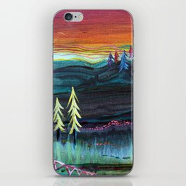Behind the trees iPhone Skin