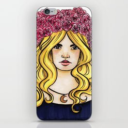 Crown of Roses Marker Drawing by Grimmiechan iPhone Skin