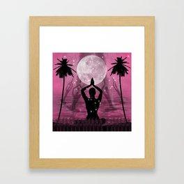 Moon Meditation Framed Art Print