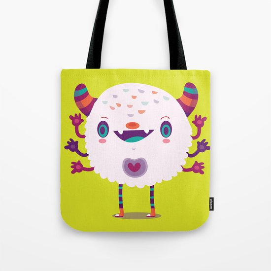 Puffy monster Tote Bag
