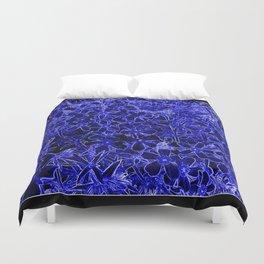 Flower | Flowers | Royal Blue Flox on Black Duvet Cover
