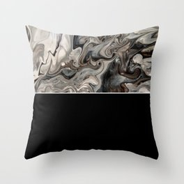 Black and White Modern Design - Fluid Acrylic Throw Pillow