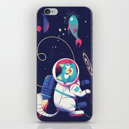 The Adventures of Space Cat iPhone Skin