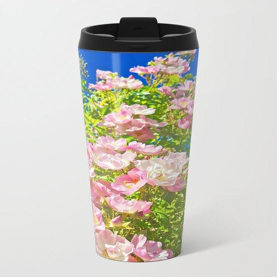 Sun Soaked Roses Metal Travel Mug