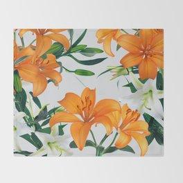 Glorious Lilies Throw Blanket