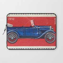 Postage stamp printed in Soviet Union shows vintage car Laptop Sleeve