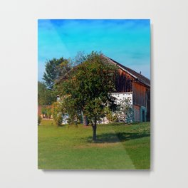 The tree and the farm Metal Print