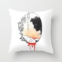 hamlet Throw Pillows featuring Hamlet by Gardensounds