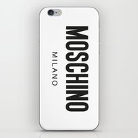 moschino iPhone & iPod Skins featuring Moschino Milano by Joannes