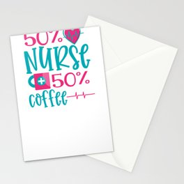 New Nurse Gift 50 Percent Nurse 50 Percent Coffee Stationery Cards